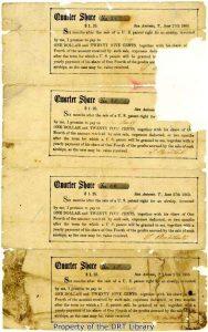 Damaged stock certificates