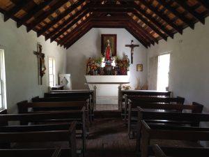Photo of interior of La Lomita Chapel