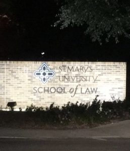 St. Mary's University, Law School entrance, San Antonio, Texas