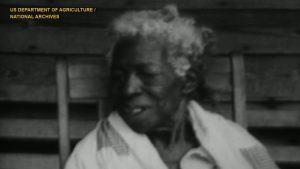 Screen capture photo of Redoshi from the film The Negro Farmer